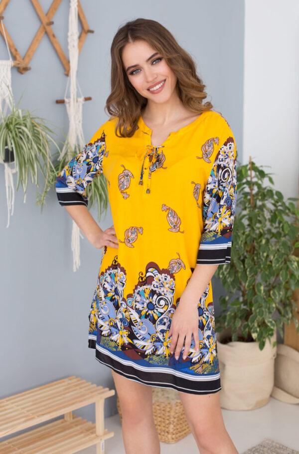"""16364 Платье домашнее женское Mia-Mia """"Sole Viva"""""""