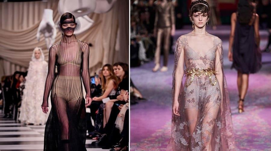 многослойные прозрачные платья