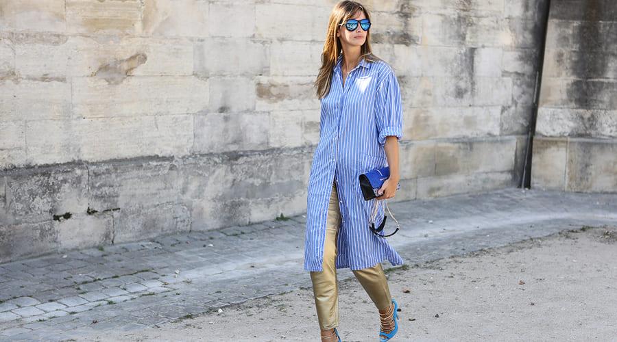 Интересные образы с платьем-рубашкой