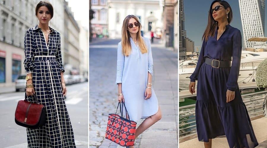 Разные варианты платья-рубашки