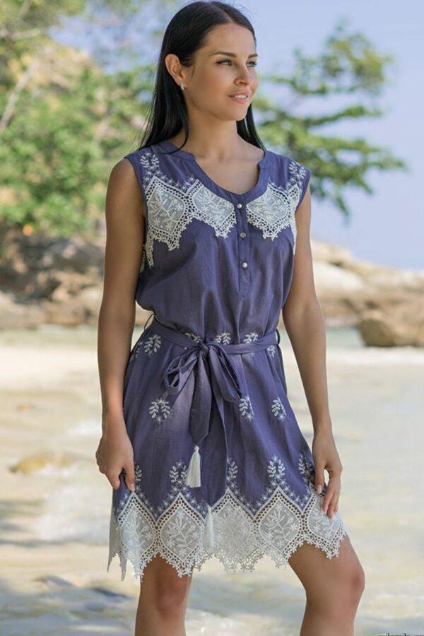 Платье-туника Marsell с воротом на пуговицах