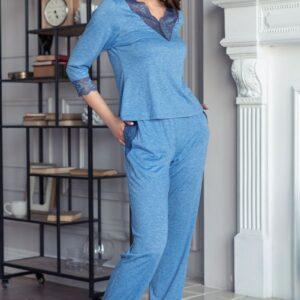 Домашняя пижама с длинными брючками