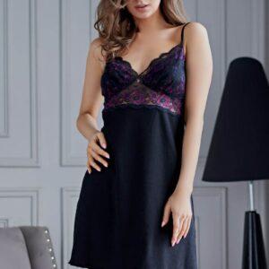 Коротенькая женская сорочка Roberta с кружевным лифом