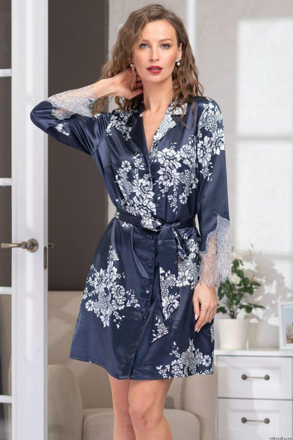 Короткий халат-рубашка Alexandria с поясом