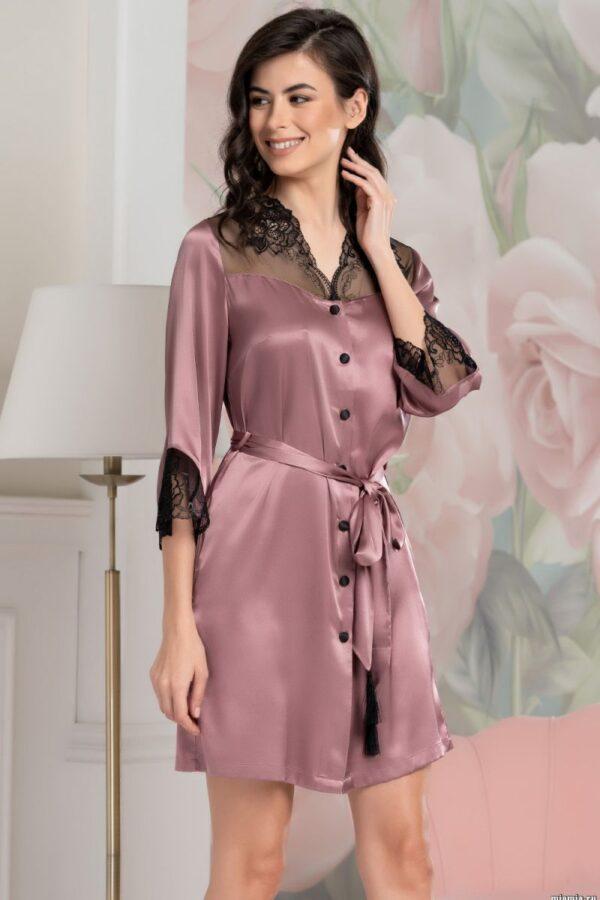 Шелковое платье-рубашка Olivia