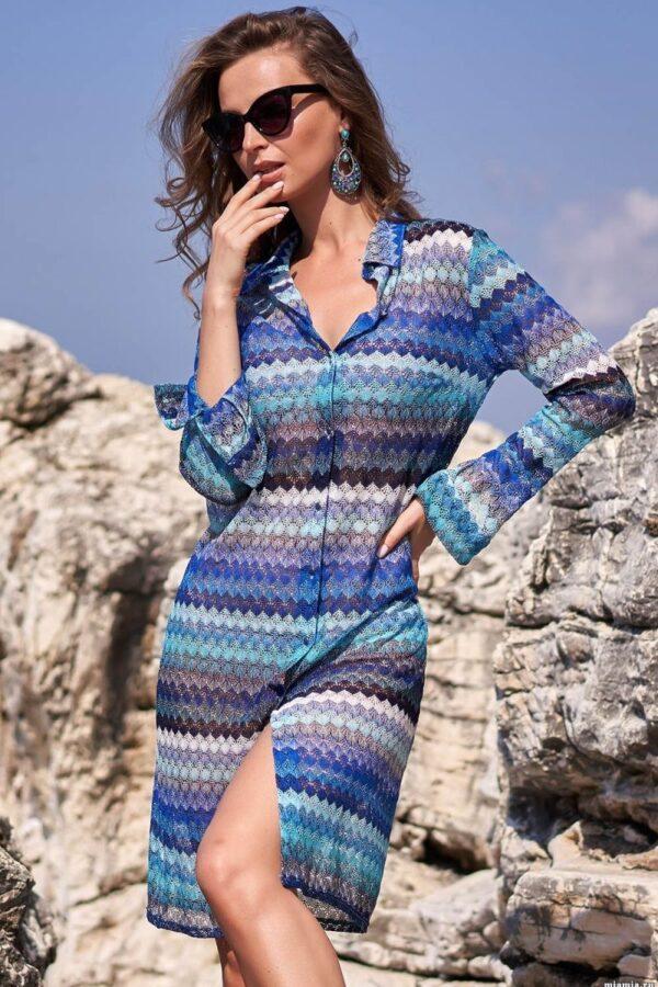 Длинное платье-рубашка Missoni на пуговках