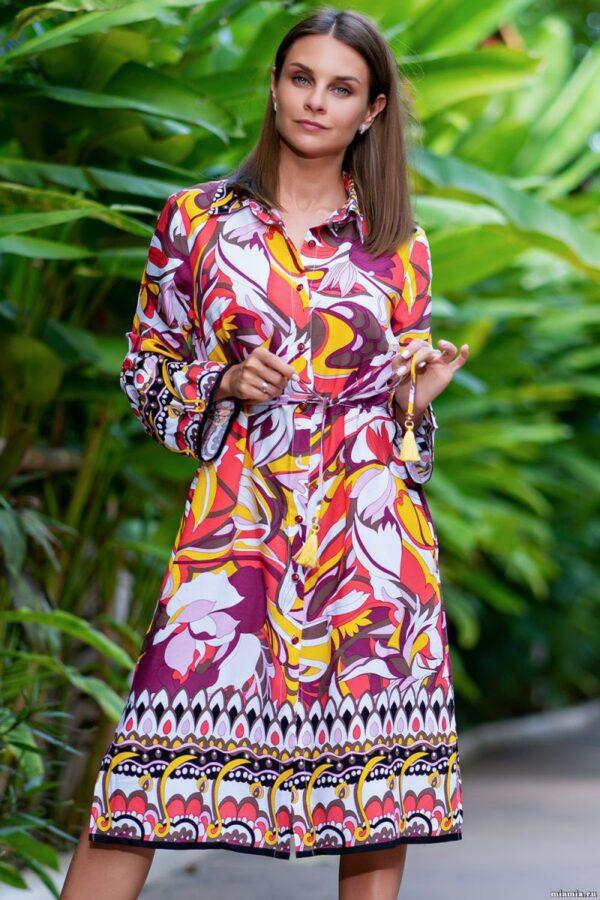 Яркое платье-рубашка Bahama