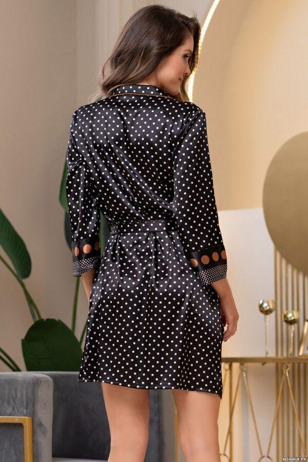 Халат на пуговицах Camilla из искусственного шелка