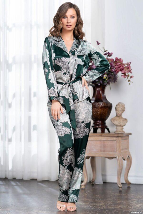 Оригинальный шелковый пижамный комплект Agata