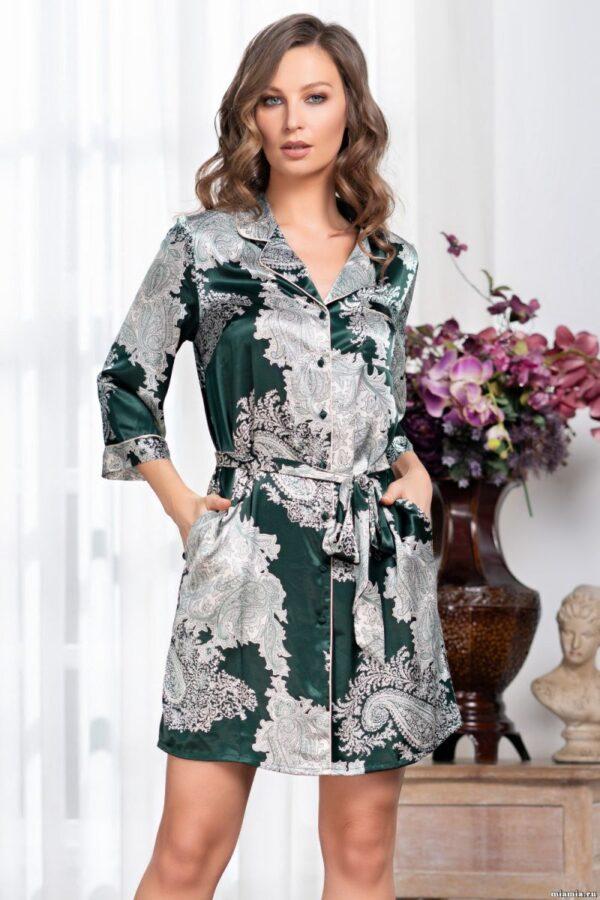Халат-рубашка Agata с рукавами длиной 3/4
