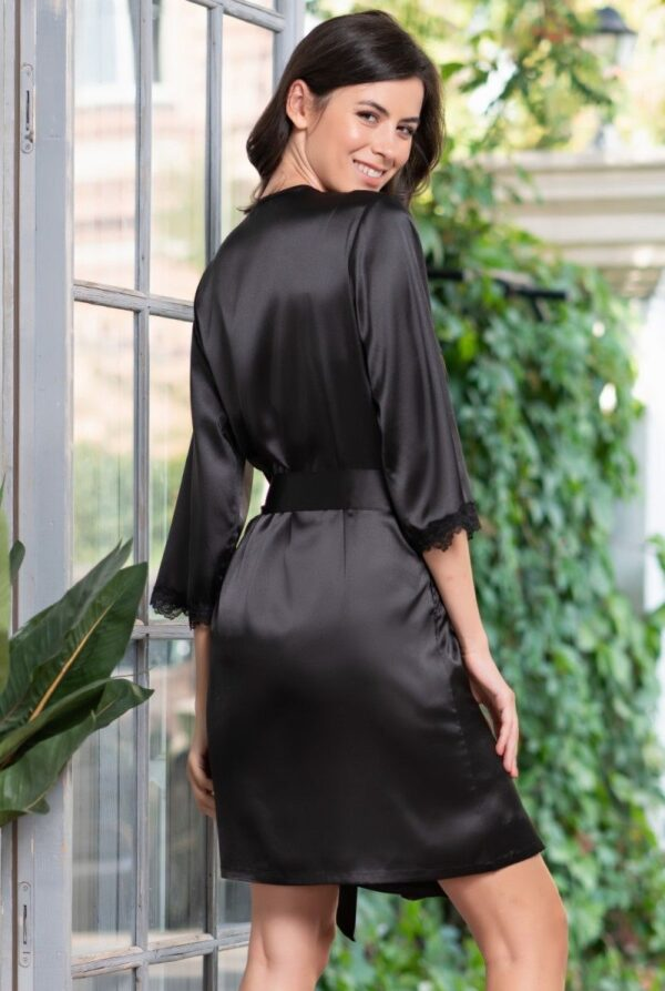 Короткий халат Julia из искусственного шелка