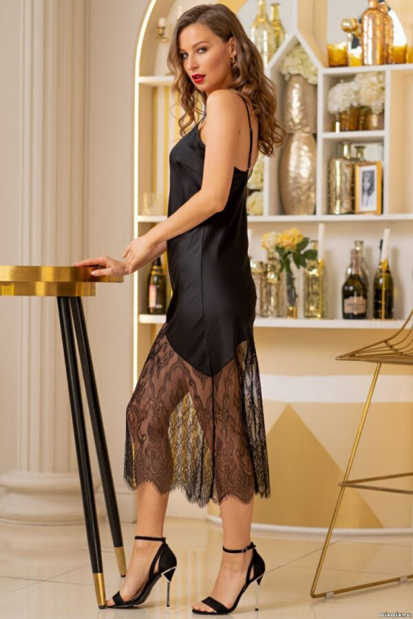 Длинная сорочка Cornelia из шелковистого атласа