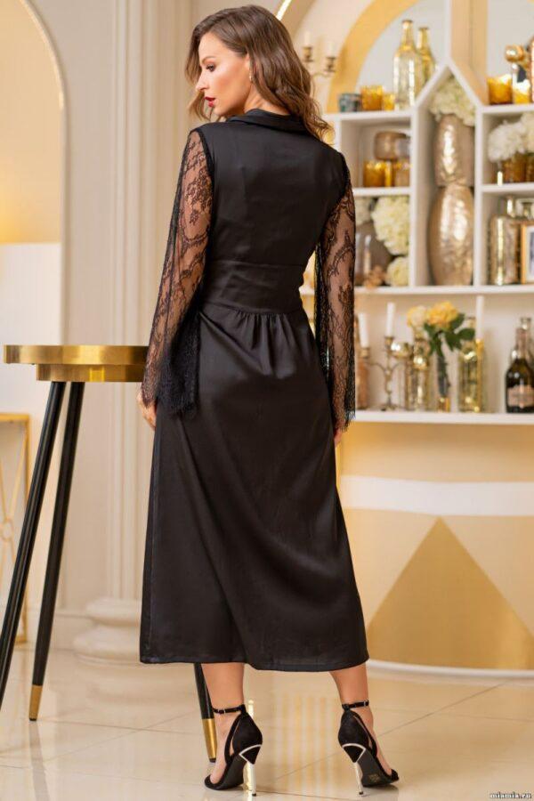 Длинный халат Cornelia с кружевными рукавами