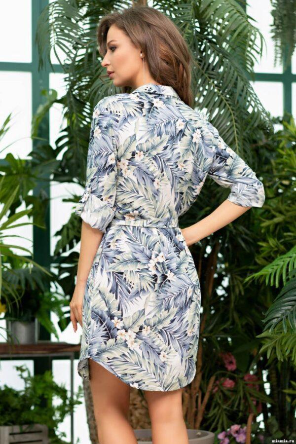 Короткое платье-рубашка Madeira с фигурным подолом