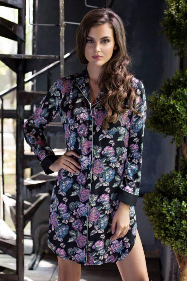 Платье-рубашка Sharlotta из принтованного твила