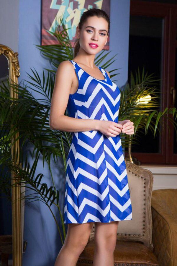 Платье пляжное Carlin с зигзагообразным узором