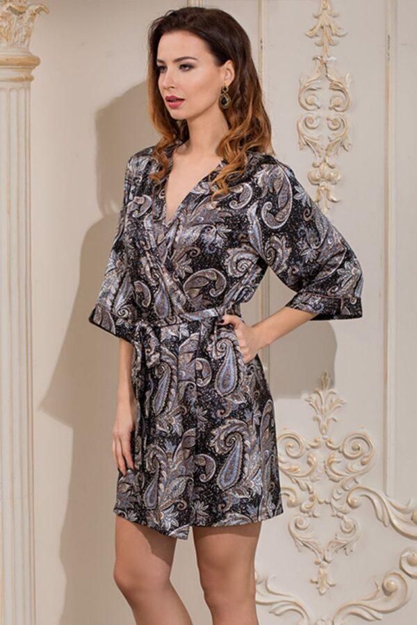 Короткий халат–кимоно Donatella