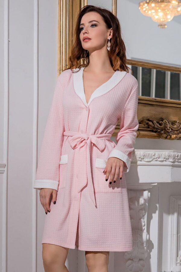 Короткий халат Короткий халат Vivien с кармашкамис кармашками