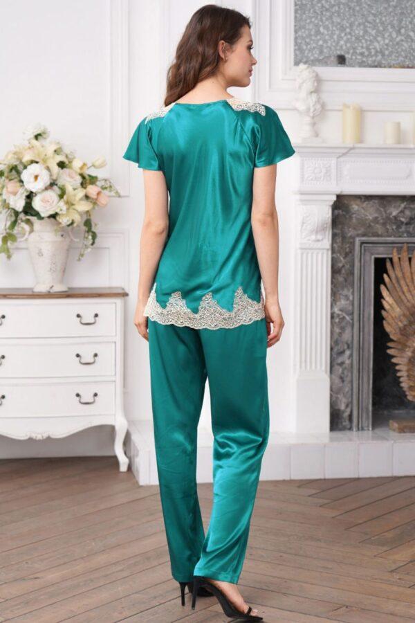 Шелковая пижама с брюками Marilin Deluxe